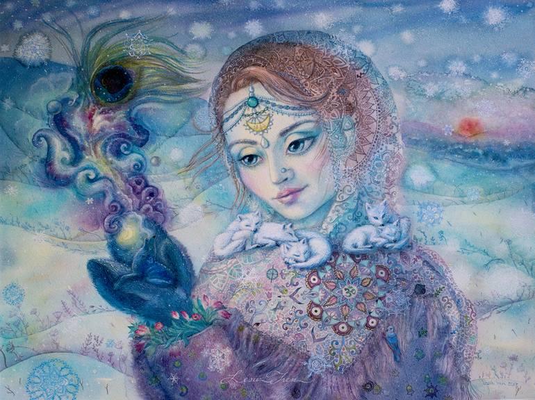 Calling Painting by Irina Lesik